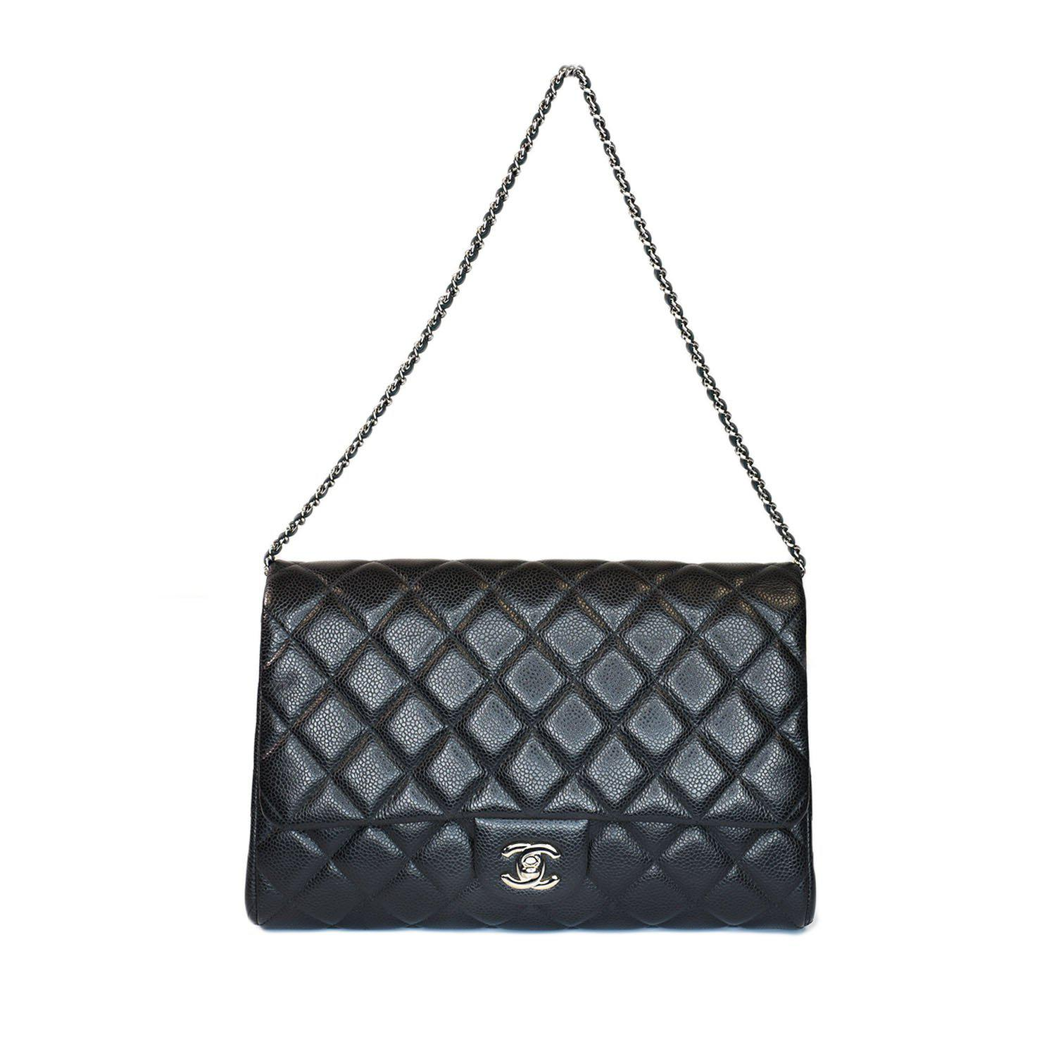 Chanel Classic Quilted Clutch Shoulder Bag  Lot 5   Auction King b6dff194bd